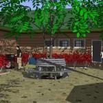 Business Courtyard 3D Model